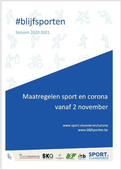 2 november - maatregelen sport en corona